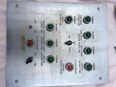 1940/50's Operating Theatre Control Indicator Panel- could be working/decorative
