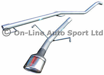 Astra Mk5 1.7 CDTi Non DPF Hatchback Race Tube Exhaust System ULTER OVAL TIP