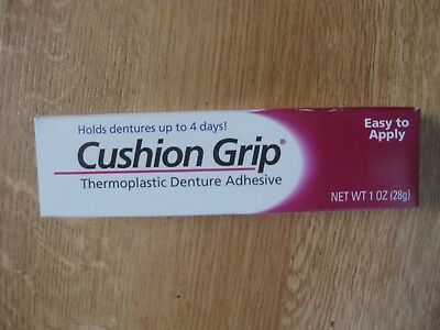 Cushion Grip Thermoplastic Denture Adhesive 1 Ounce Tube
