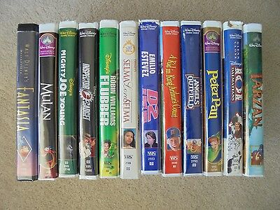 Disney Lot of 12 VHS Tapes