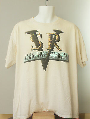 1989 Stevie Ray Vaughan and Double Trouble In Step Concert Shirt, XL!