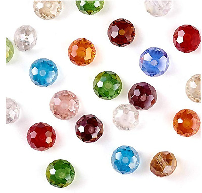 200cps 4mm Faceted Rondelle Crystal Glass DIY Craft Finding Loose Spacer Beads
