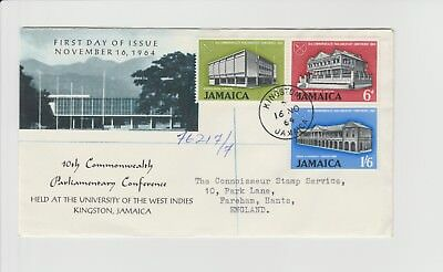 Jamaica FDC 10th Commonwealth Parliamentary Conference FDC on registered letter