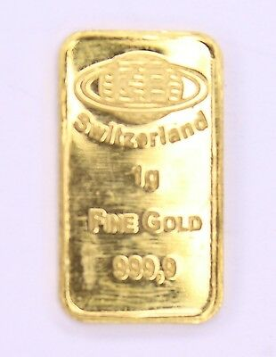 1 Gramm Goldbarren  KB-Barren Switzerland HoloFolie 999,9 Feingold #500000005431