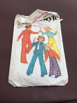 Vintage Child's Trouser Suit Sewing Pattern By Style