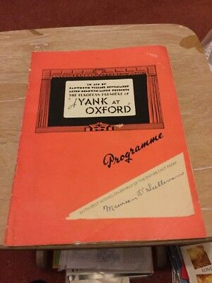 theatre programme signed