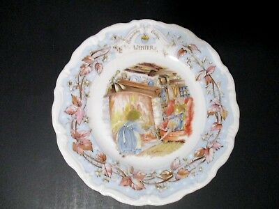 Vintage Royal Doulton Brambly Hedge WINTER Bone China Plate
