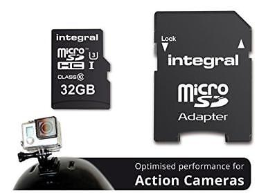 (TG. 32 GB/Single Pack) Integral INMSDH32G10-ACTION Action Camera Scheda di Memo