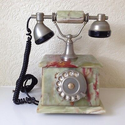 Vintage Telephone Marble Made in Italy