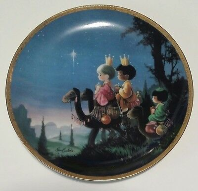 Precious Moments Bible Story They Followed The Star 1991 Plate