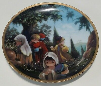 The Crucifixion Precious Moments Bible Story 1992 Plate
