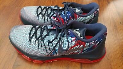 new product 74d76 f1e82 NIKE KD 8 Independence Day Usa Mens Size 12 Red Blue Black 749375-446