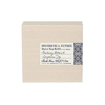 Spanish Fig & Nutmeg Beard Shaving Shave Soap Refill for Men by Bath House