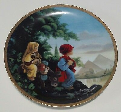The Flight Into Egypt Precious Moments Bible Story 1992 Plate