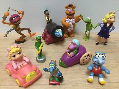 The Muppets Figures Bundle ~ Kermit, Miss Piggy, Fozzie, Rizzo, Animal & More