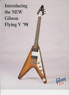 Gibson Guitars Sales Brochure Flying v 98 1 page A4 size