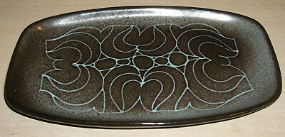 Poole Pottery Pin Tray (Shape 361) Unusual Unknown Glaze and Design