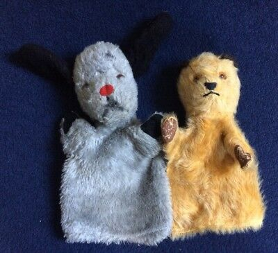 CHAD VALLEY VINTAGE 1960s SOOTY AND  SWEEP HAND GLOVE PUPPETS TOYS