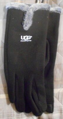 UGG Ladies gloves - one size fits all- black - last one - new