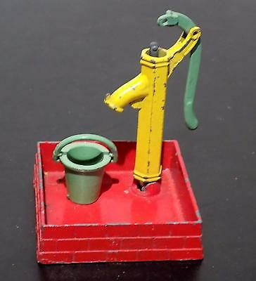 Vintage Painted Lead Water Pump, Tray & Bucket, Unknown Maker, England. As Fnd
