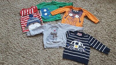 NEXT 5 baby boy long sleeves tops size 12-18