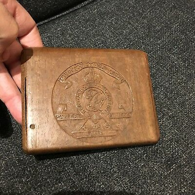Wooden Cigarette Case Queen Victoria's Own Madras Sappers and Miners