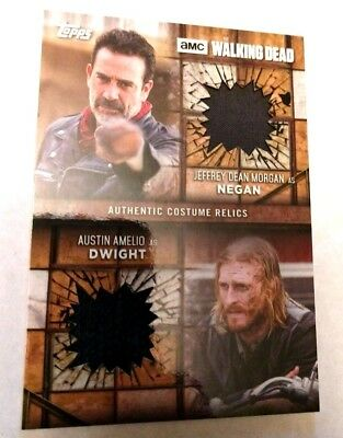 2017 Topps The Walking Dead Season 7 Negan/Dwight Dual Relic 09/25 Rare!!
