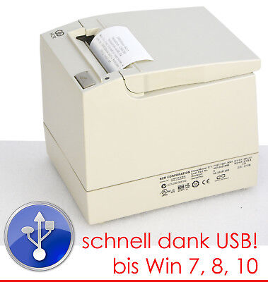 POS PRINTER KASSENPRINTER BONPRINTER NCR7197 USB FÜR WINDOWS XP 7 8 10 +3xROLLEN