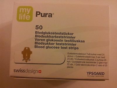 Mylife Pura BLOOD GLUCOSE TEST STRIPS: 1 pack of 50 strips. Expiry March 2018