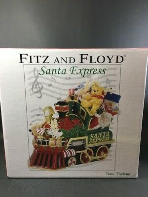 2007 FITZ AND FLOYD SANTA EXPRESS  MUSICAL FIGURINE Plays: TOYLAND 12