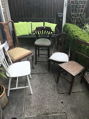5 Vintage wooden chairs All Different