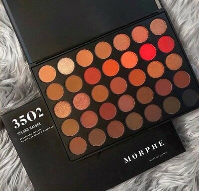 Newest hot  Morphe 35O 2 Second Nature Makeup Eyeshadow Palette & Free ship