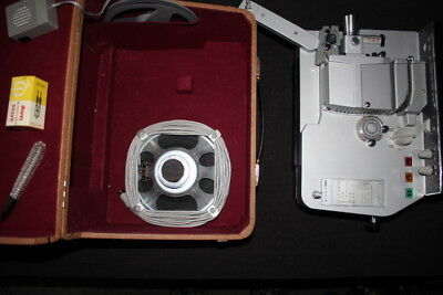 Silma 240s 8mm Film And Sound Projector With Box - Built In Speaker - Working