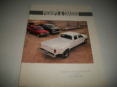1994 Ford Pickups & Cab-Chassis Sales  Brochure Catalog F-Series Bronco Ranger