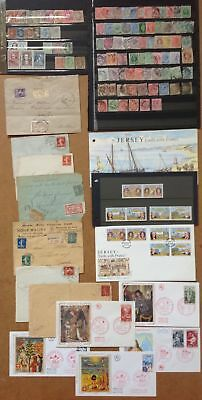 Lot timbres lettres anciennes france angleterre fdc