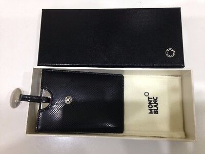 Mont Blanc Leather cased Travelling Mirror ORIGINAL BOX & NEVER USED