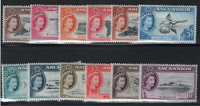1956 Ascnesion. SC#62-74 SG#57-69. Mint, Lightly Hinged, Very Fine