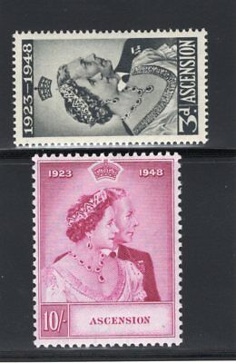 1948 Ascnesion. SC#52-53 SG#50-51. Mint, Lightly Hinged, Very Fine
