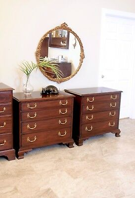 Pair of Henkel Harris Mahogany Bedside Chests Style No. 188