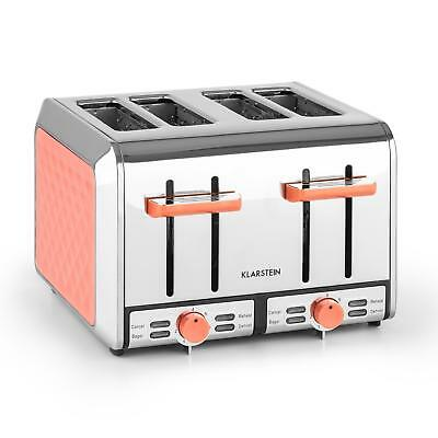 New 4 Slot  Stainless Steel Toaster Kitchen Hotel Restaurant 7 Toasting Level