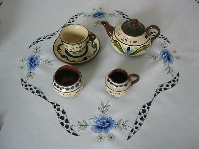 Delightful  Torquay Pottery Tea Set for One EXCELLENT Condition