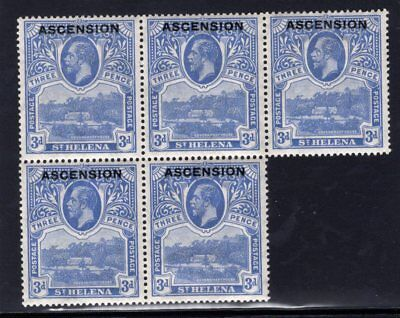 1922 Ascnesion. SC#5 SG#5. Mint, Lightly/Never Hinged, Very Fine