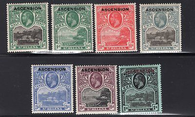 1922 Ascnesion. SC#1-6, 9 SG#1-6, 9. Mint, Lightly Hinged, Very Fine