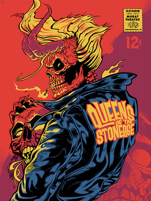 Queens of the Stone Age Poster Indianapolis IN Murat 10/18 QOTSA Villains Print