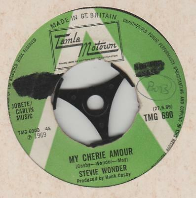 Stevie Wonder My Cherie amour Tamla Motown TMG 690 G+ 1 sided demo No centre