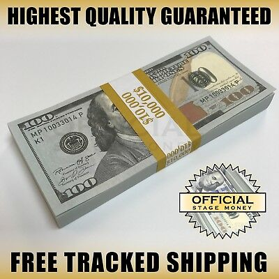 $10,000 BEST BLANK FILLER STACK USA Fun Prank Stage Party Joke Fake Prop Money