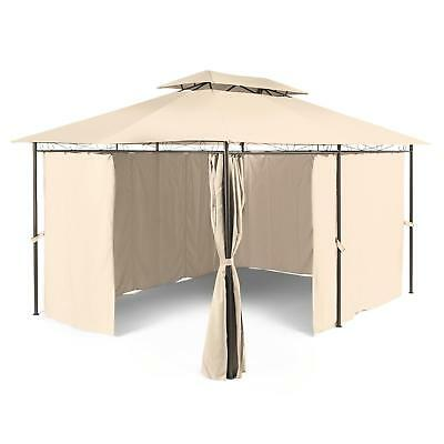 Outdoor Summer Party Tent Gazebo Shade Canopy Velcro Polyester Rainproof 3 X 4 M