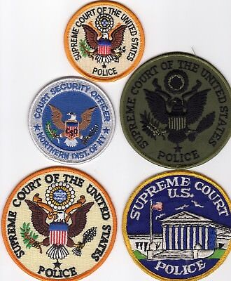 SUPREME COURT Patches POLICE - NEW YORK PLUS - 5 PATCH SET! one Subdued