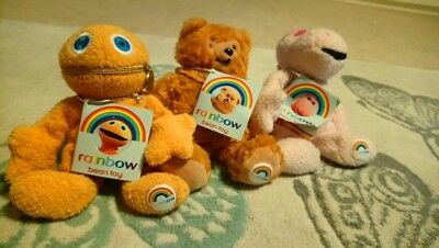 Rainbow Bean Toys - Zippy, Bungle & George - Approx 7 Inches