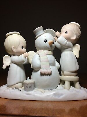 "Precious Moments Figurine ""Halo and a Merry Christmas""  #12351"